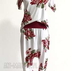 komplet pachnący wiosną, flower zestaw, spodnie, bluzka, boho