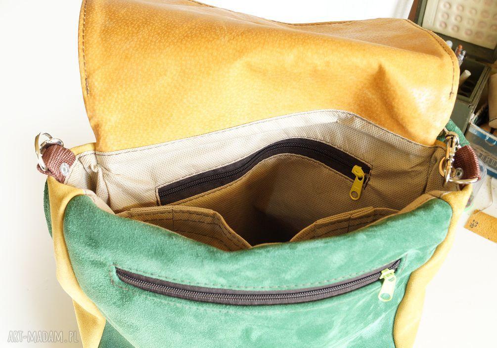 szare na ramię torba plecak/teczka żółto-szara