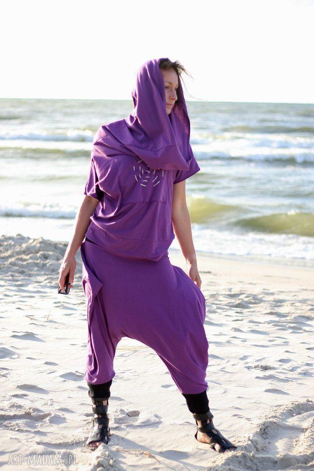 spodnie violet -komplet