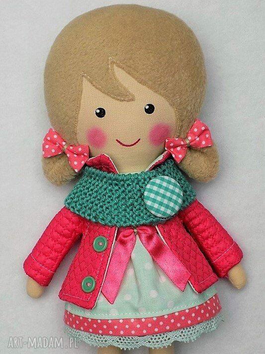 hand-made lalki lalka malowana lala iga z wełnianym