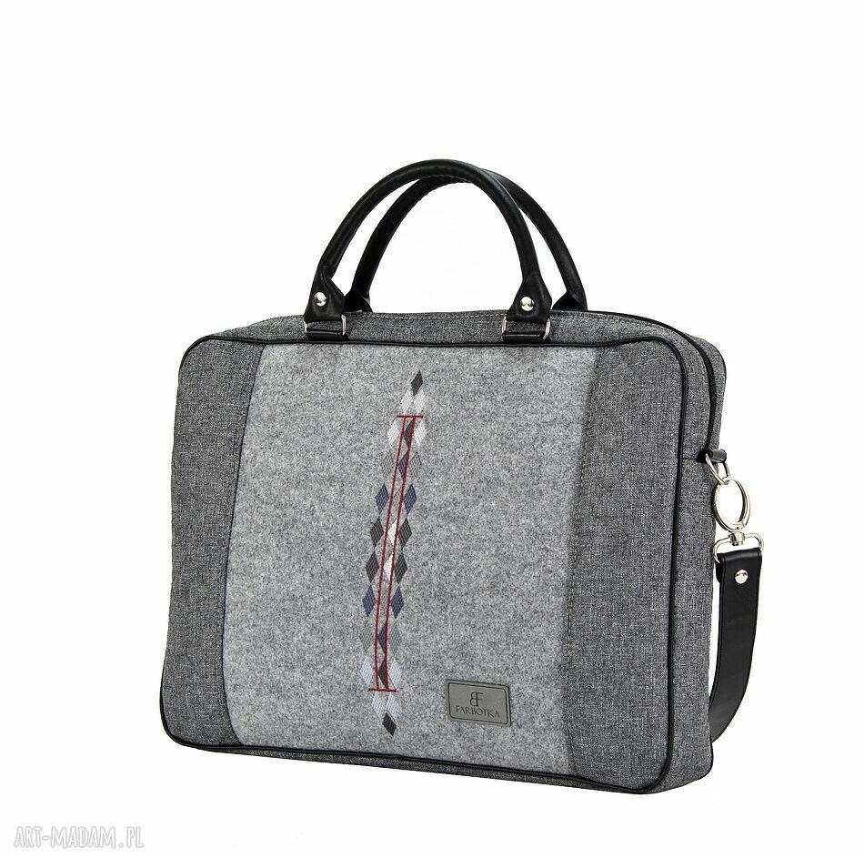 nietuzinkowe na laptopa duża torba romby 793