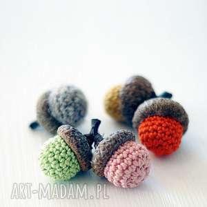 kolorowe żołędzie, żołądź, dekoracyjny, jesienny dekoracje