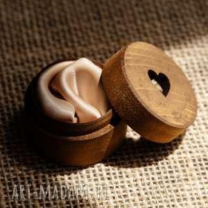 pudełko na obrączki serce 3, obrączki, drewniane pudełko, ślub