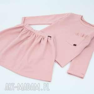 Komplet spodniczka i bluza z falbankami, komplet, zestaw