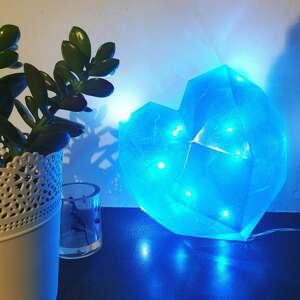 lampka led - serce, lampka, ozdobna, led, żywica epoksydowa, resin