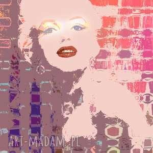 świąteczny prezent, m art, nowoczesny, marylin, monroe, unikatowy, obraz, usta