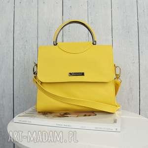 elegancka listonoszka klasyczna żółta musztarda, elegancka, listonoszka, manzana