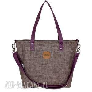torebka damska cuboid z nutką śliwki, damska, torba na ramię, do pracy