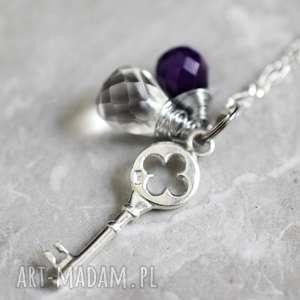 madamlili 925 klucz górski ańcuszek - kryształ, zawieszka