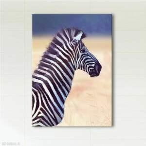obraz - afryka, zebra wydruk na płótnie