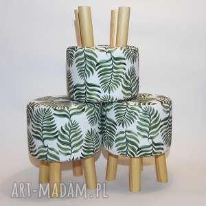 ręcznie wykonane pufy pufa liść paproci - 36 cm