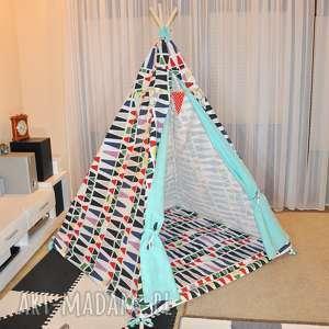 Tipi duży namiot z matą pokoik dziecka sznurekwiki namiot, tipi