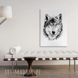 obraz na płotnie - 70x100cm 0237 wysyłka w 24h, obraz, grafika, wydruk, wilk