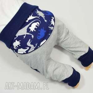 Prezent DINOZAURY legginsy/spodnie/baggy/pumpy dla chłopca, dla niemowląt, bawełniane