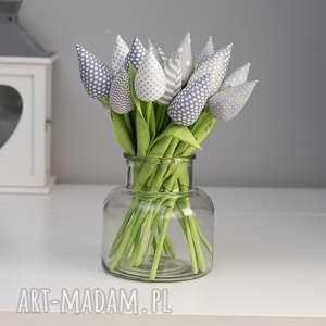 tulipany bawełniane 12 sztuk, kwiaty, prezent, tulipany, babcia
