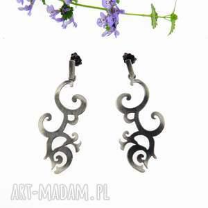 kolczyki - florencja duża, kolczyki, srebrne, biżuteria, autorska, prezent
