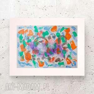 abstrakcyjna dekoracja, nowoczesna grafika, design na ścianę, lofty obraz