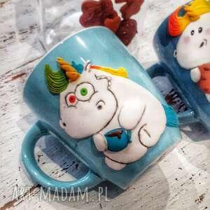 kubek jednorożec, ceramika, kawa herbata, jednorożec kolorowy, prezent