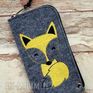 Prezent Filcowe etui na telefon - lisek, pokrowiec, smartfon, lis, fox, modne