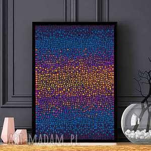 Plakat 50x70cm, plakat, abstrakcja, ilustracja, obraz, dom, sztuka