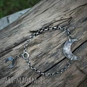 lunula na łańcuszku, półksiężyc, lunulą, bransoletka z symbol, kobieca