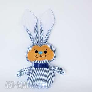 Królik torebkowy - Marek, królik, maskotka, zając, chłopczyk, roczek, wielkanoc