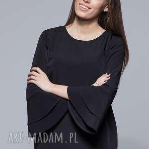 bluzka z szerokimi rękawami- czarna h030 - bluzka, kobieca bluzka, moda, elegancka