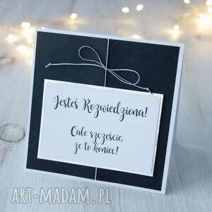 handmade kartki kartka z okazji rozwodu