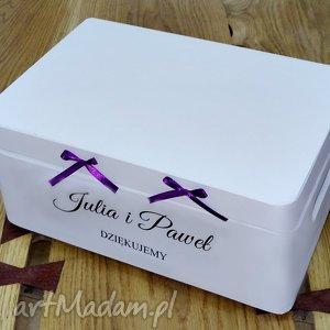 Ślubne pudełko na koperty Personalizowane Kopertówka, napis