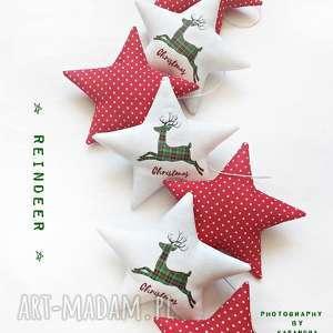 christmas - świąteczna girlanda, gwiazdka, renifer, święta, gwiazdki