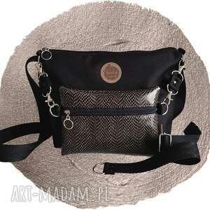 torebki torebka modułowa black 4w1 - snake, modułowa, wężowa
