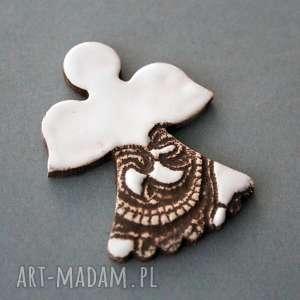 aniołek-magnes ceramiczny, minimalizm, skandynawski, chrzest, komunia, święta
