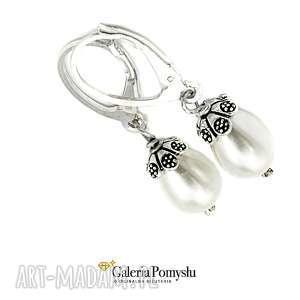 Perły seashell, perły, srebro, 925