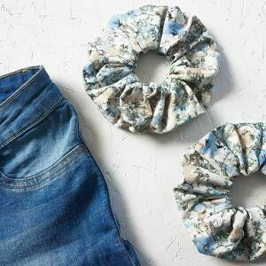 scrunchie frotka gumka do włosów z materiału, scrunchie, materiału