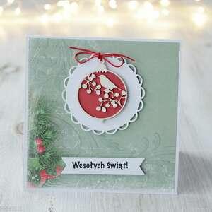 Po Godzinach - kartka świąteczna z bombką, prezent, święta, boże narodzenie, xmas