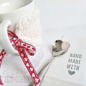 Otulacz na kubek z serduszkiem - HandMade