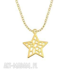 celebrate - star - necklace g - ,gwiazdka,celebrate,łańcuszek,celebrytka,