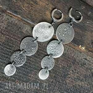 kolczyki srebrne, długie, wiszące, srebrne