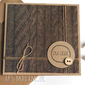 dla NIEGO :: kartka handmade eko, on, eko