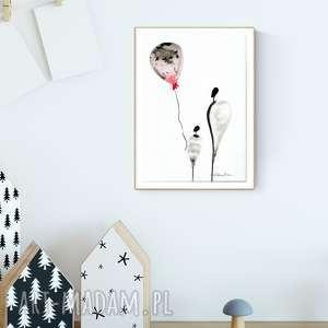 grafika A4 malowana ręcznie, minimalizm, abstrakcja czarno-biała, obrazek-dziecięcy