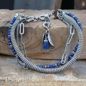 hand-made lapis lazuli - bransoletka