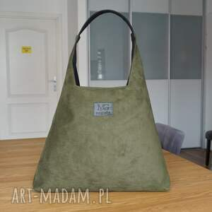 boba zip xl, kolor butelkowy zielony, designerska wodoodporna duża torba
