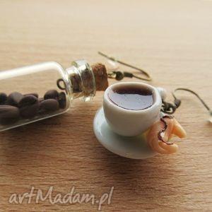 hand-made kolczyki kolczyki filiżaka i słoiczek kawy