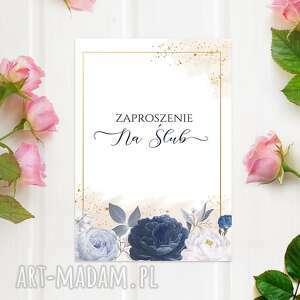 zaproszenia ślubne z kopertą gotowe, 10 sztuk, glamour, boho, zaproszenie