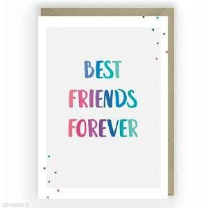 kartka okolicznościowa best friends forever przyjaźni, kartka