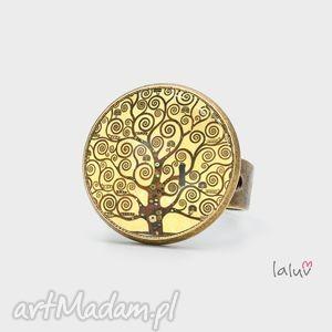 pierścionek klimt tree of life, reprodukcja, drzewo, życia, sybol, obraz