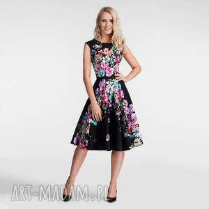 sukienki sukienka scarlett midi belinda, na wesele, rozkloszowana