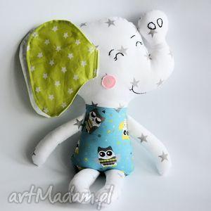 motylarnia słoń farciarz - aleks 48 cm, słoń, zabawka, chrzciny, roczek, chłopiec