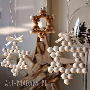 handmade prezent święta gwiazda drewniana