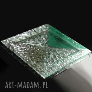 patera szklana natura, szklo, szklana, talerz, fusing, stół, szkło